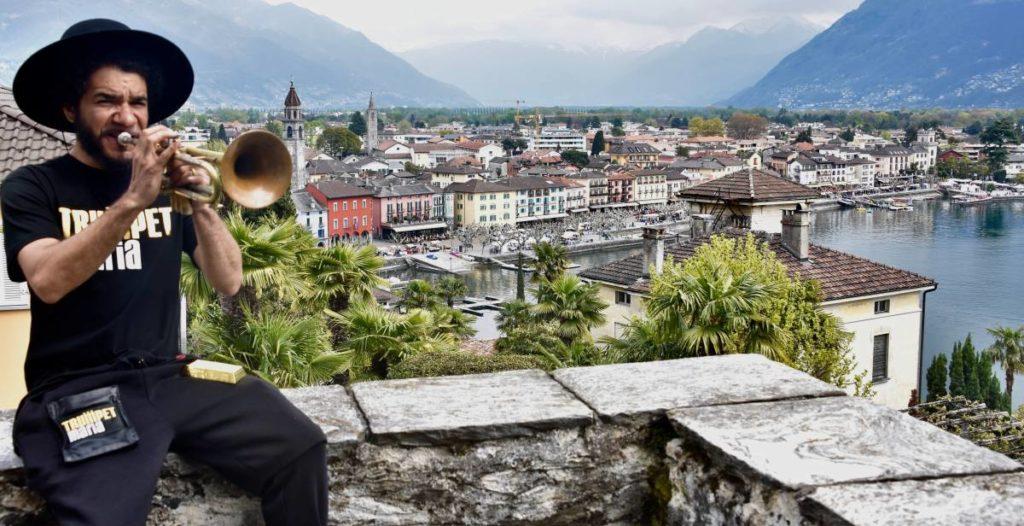 Il trombettista Ashlin Parker ad Ascona