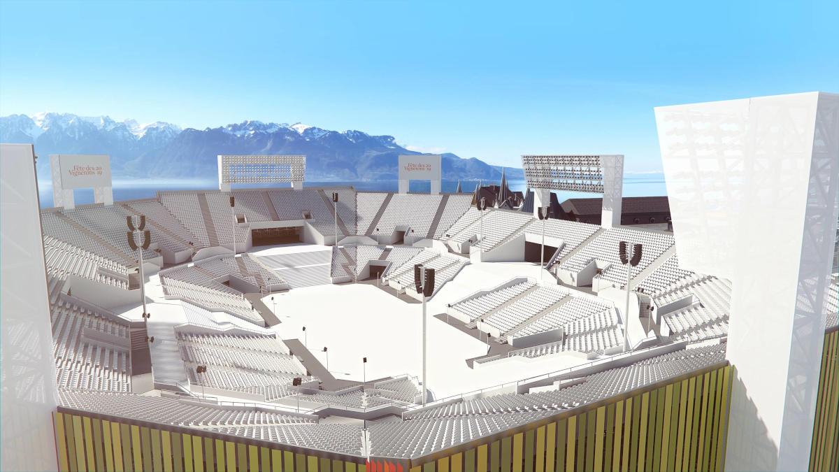 Fête des Vignerons - Progetto dell'arena per l'edizione 2019