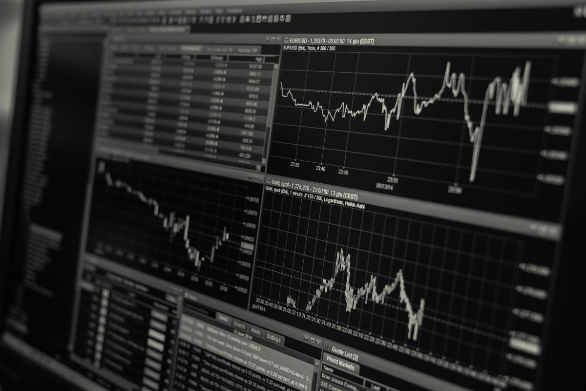 Andamento grafico di titoli della Borsa
