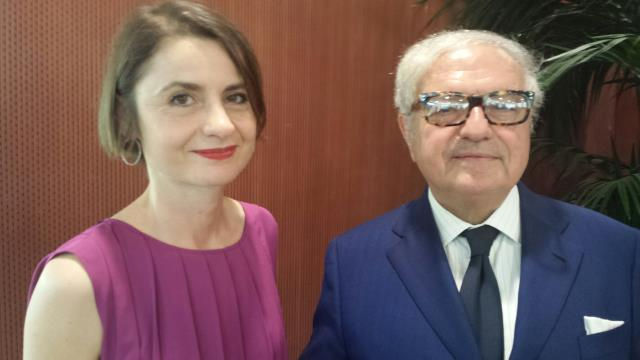 Sabina Dallafior, nuovo Console di Svizzera a Milano, con Achille Colombo Clerici