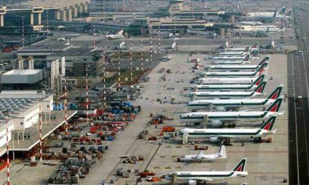 Veduta panoramica dell'aeroporto della Malpensa
