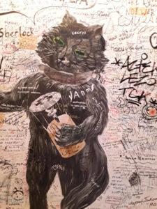 Mosca - Graffito a casa Bulgakov