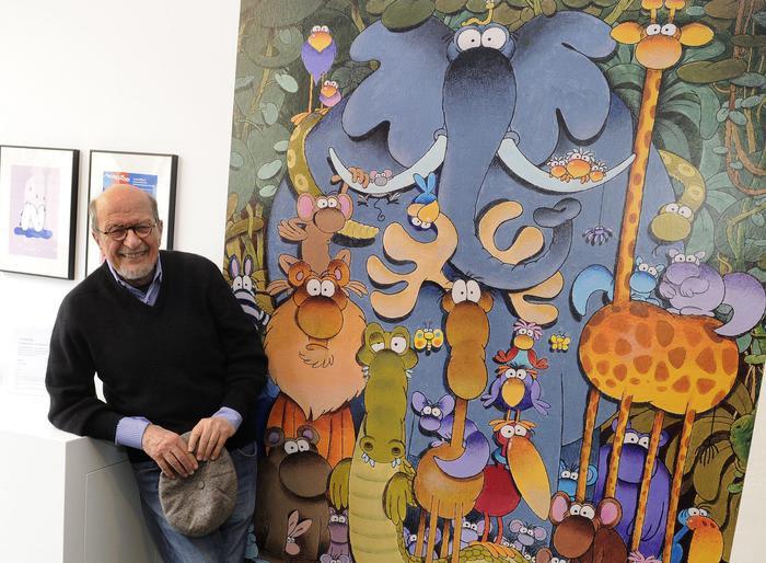 Il fumettista Guillermo Mordillo nel 2015.