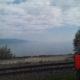Transiberiana - Veduta del lago Baikal con la locomotiva russa