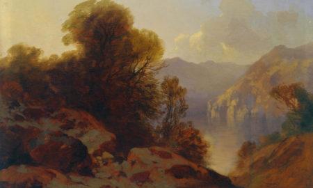 "Alexandre Calame, ""Il Lago dei Quattro Cantoni"", 1852-1858, olio su tela, 50 x 70 cm"