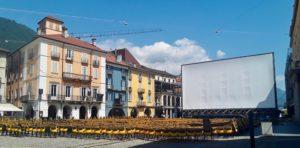 Piazza Grande a Locarno subito dopo la conclusione del Festival del film 2019