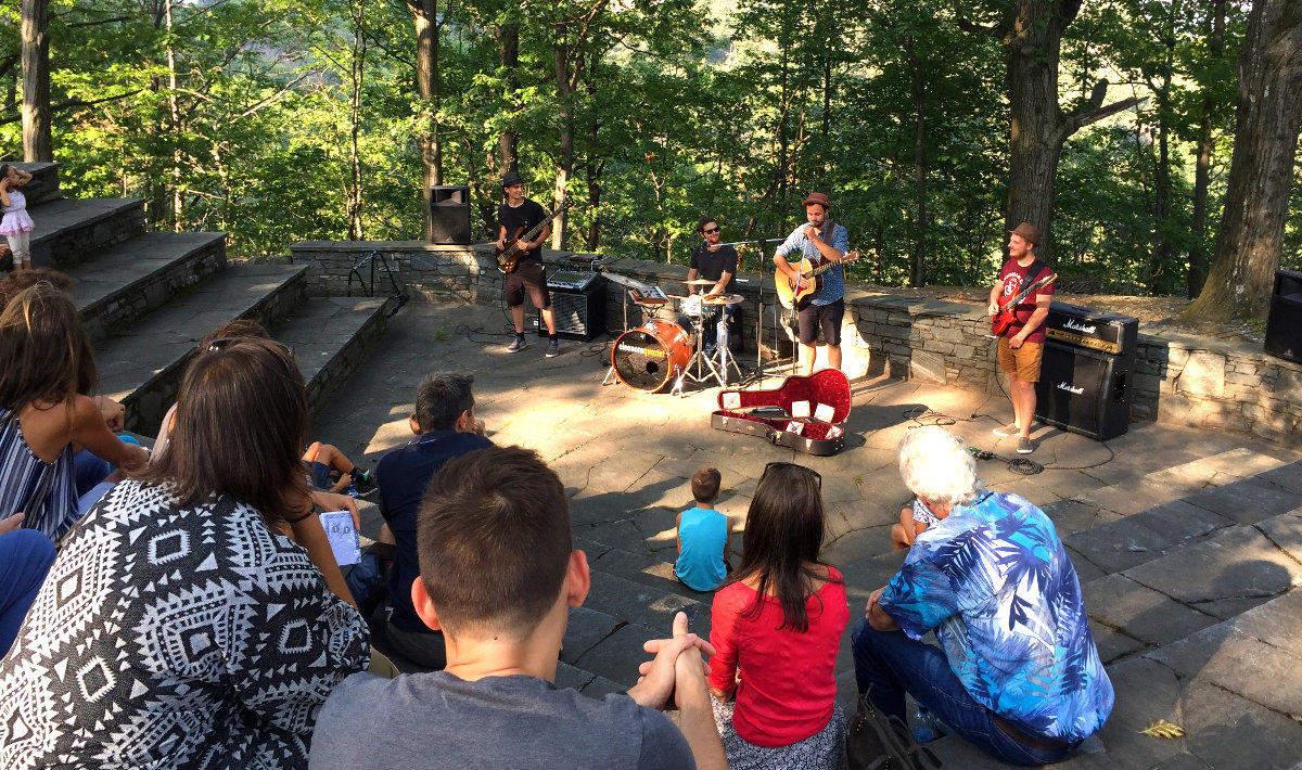Il concerto degli Eleonore Quartet all'Anfiteatro dei boschi ad Arcegno nel 2018