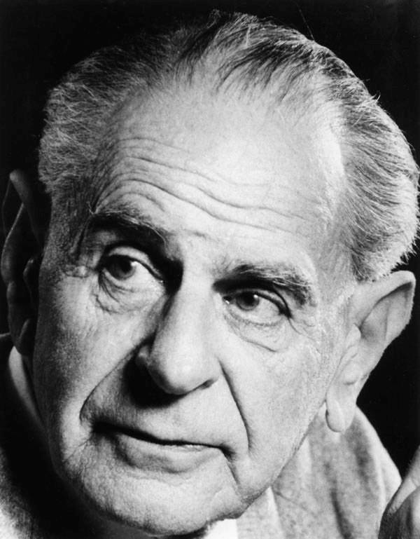 Sir Karl Popper nel 1980