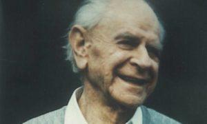 Karl Popper nel 1987