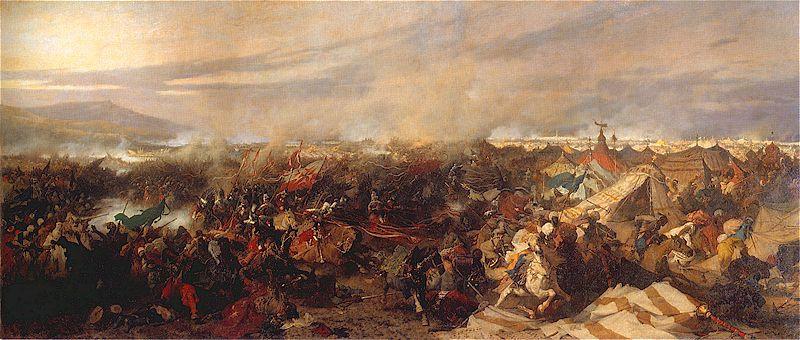 La battaglia di Vienna dell'11 settembre 1683 - Dipinto del pittore polacco Józef Brandt