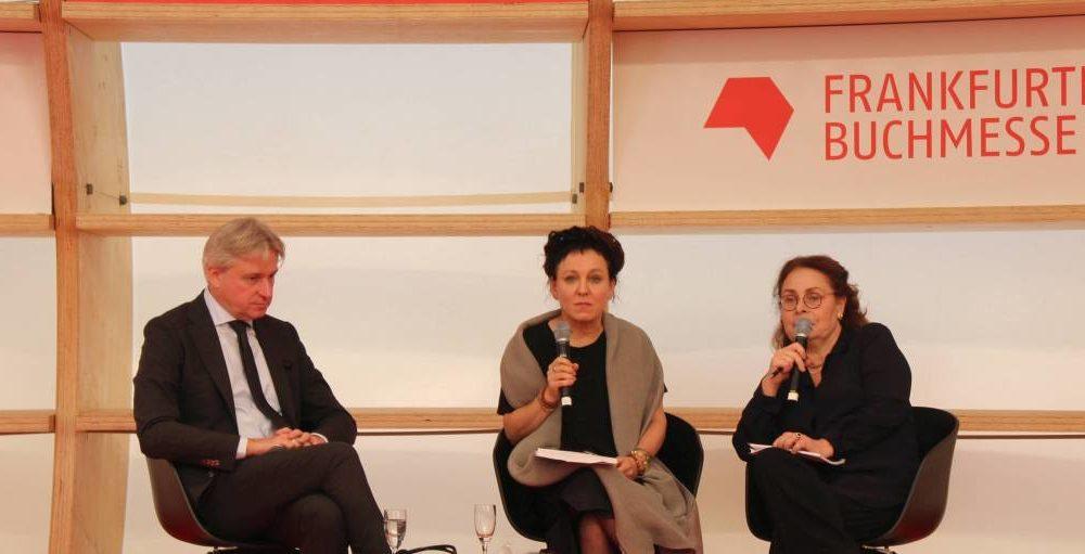 Frankfurter Buchmesse 2019 - Jürgen Boos con Olga Tokarczuk