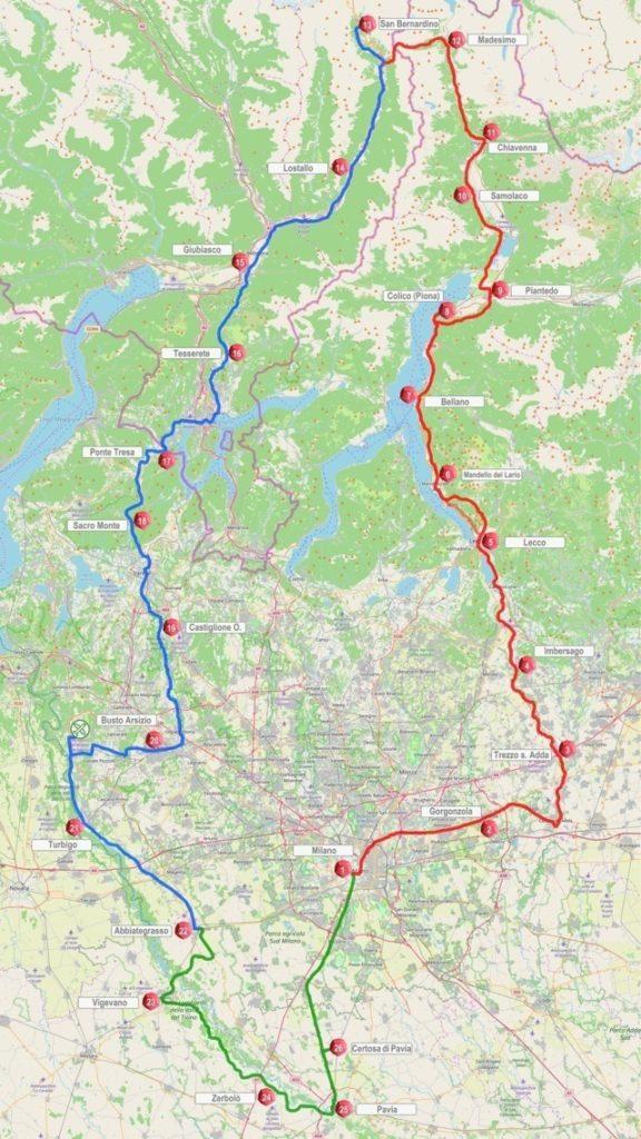 Cartina Lombardia Pavia.Nasce Il Grande Sentiero Di Leonardo Tra Lombardia E Canton Ticino L Osservatore