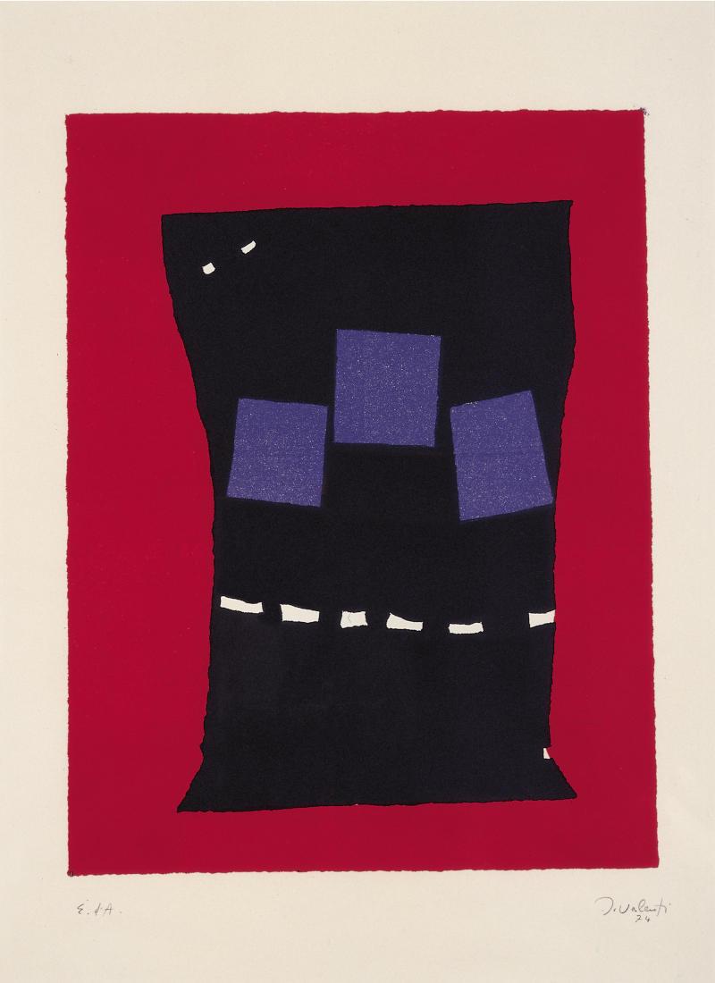 Italo Valenti, Senza titolo, 1974, Litografia su carta (© Archivio Valenti, Mendrisio)