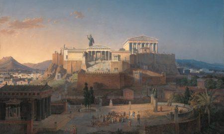 L'Acropoli di Atene - Dipinto di Leo von Klenze (1784-1864)
