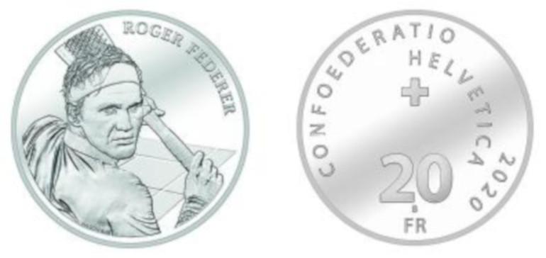 Moneta commemorativa dedicata a Roger Federer
