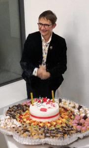Susanna Tamaro durante l'incontro per il suo 62esimo compleanno.