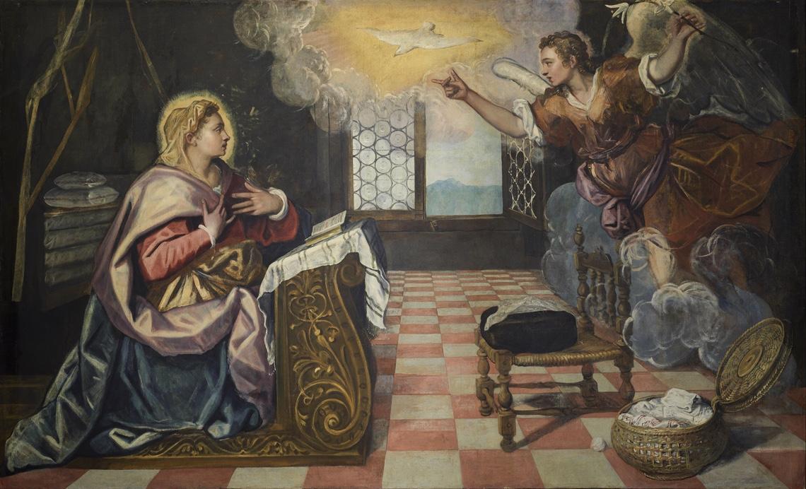 Tintoretto - l'Annunciazione a Maria da parte dell'Arcangelo Gabriele