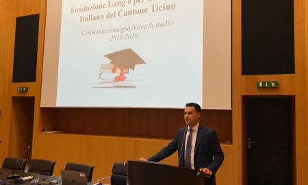 Cerimonia di consegna borse di studio 2019-2020 - Fondazione Lang e per la Cultura Italiana del Cantone Ticino