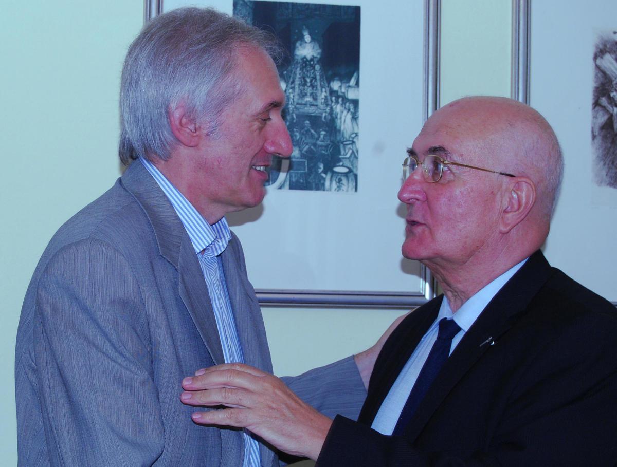 Don Sandro Vitalini con Giuseppe Zois