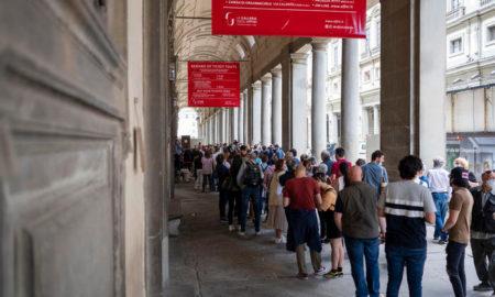 Galleria degli Uffizi - Firenze - Persone in coda