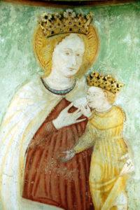 Morbio Inferiore - Particolare dell'affresco della Madonna con bambino nella chiesa di Santa Maria dei Miracoli