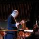 Ennio Morricone durante un concerto alle Nazione Unite