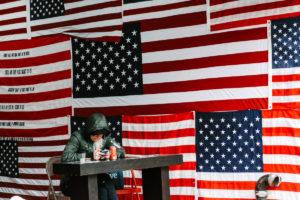 Bandiere USA a New York