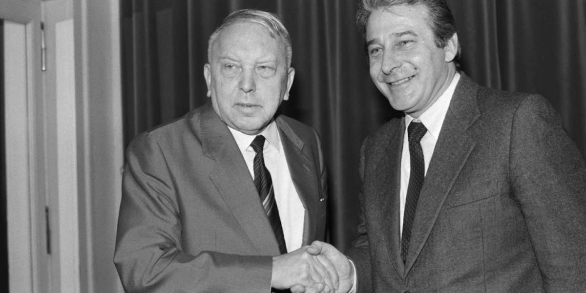 Antonio Riva con il suo predecessore alla SSR, Leo Schürmann