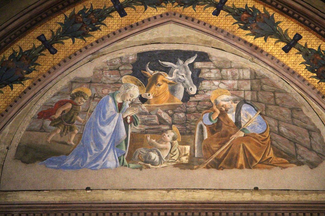Botticelli - Natività di Gesù - Basilica di Santa Maria Novella a Firenze