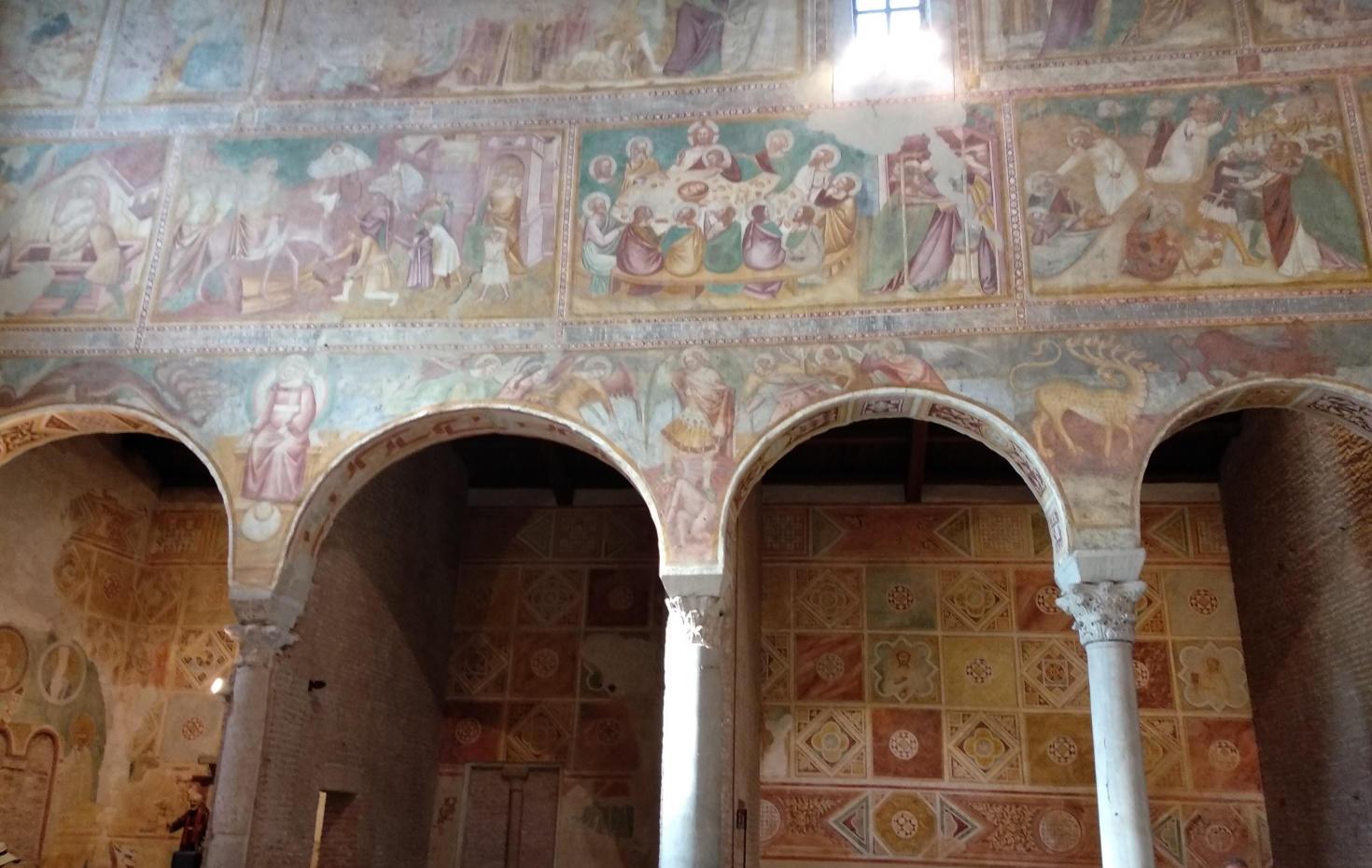 Abbazia di Viboldone - Particolare degli affreschi
