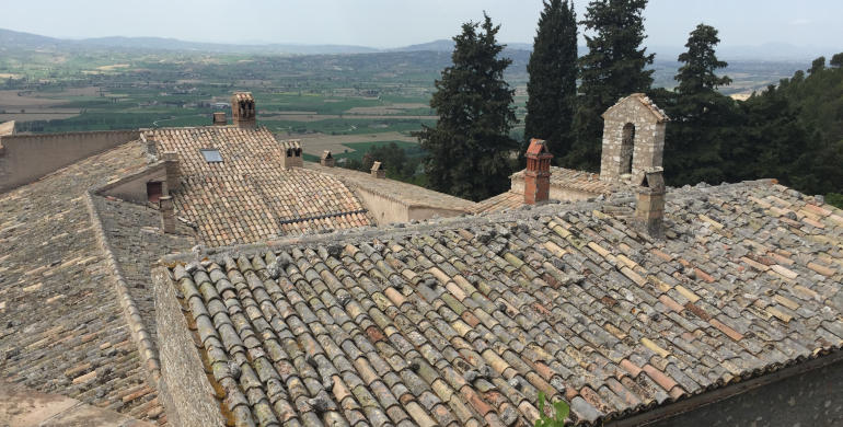 Eremo di Campello sul Clitunno (Spoleto) - Veduta dall'alto