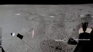 Apollo 14: posizioni delle palle da golf lanciate da Alan Shepard