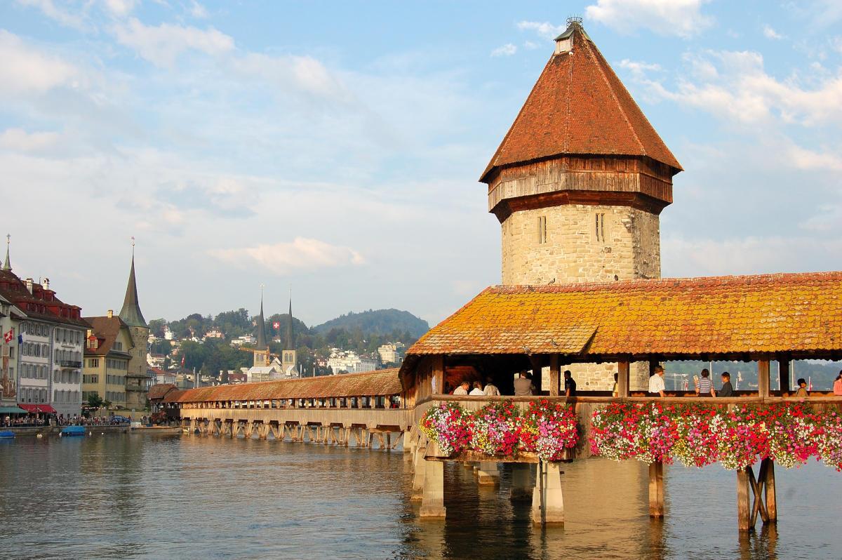 Kapellbrücke a Lucerna in un'immagine del 2006
