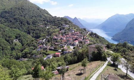 Monte Brè - Panoramica del paese di Brè