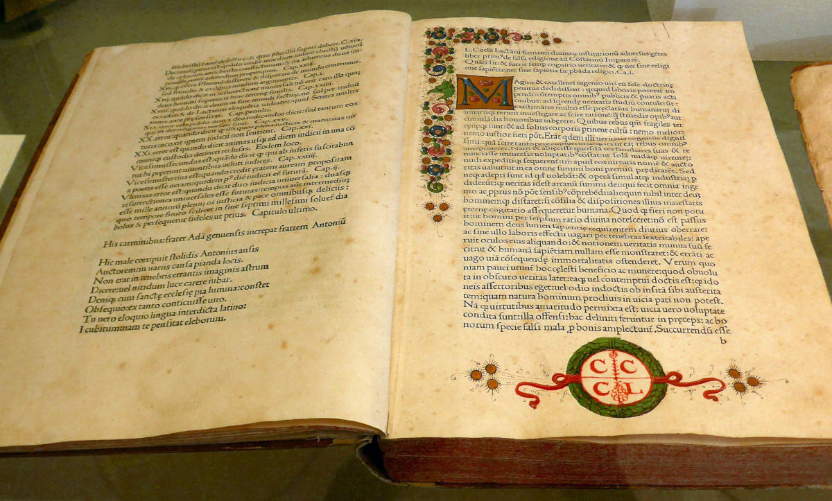 Incunabolo Lactantii Firmiani, 1478